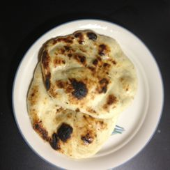 Home-made Tandoori Naan