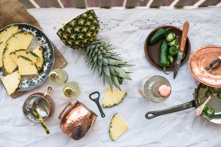 southern mules w/ pineapple + jalapeno