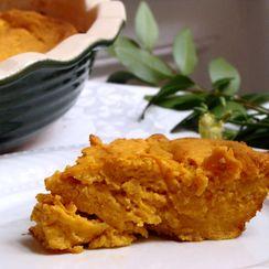 Sweet Potato, Leek & Ricotta Souffle