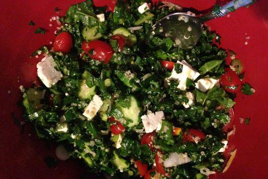 Über-Tabouli (or Kale Salad with chickpeas)