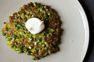 Sweet Pea and Leek Pancakes