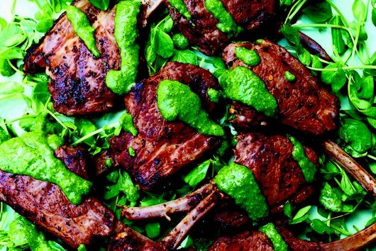 Nigella Lawson's Spicy Mint Lamb Chops with a Preserved Lemon & Mint Sauce