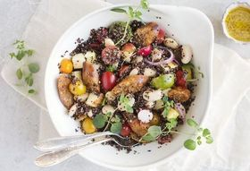 Green Kitchen Stories' Quinoa and Vegetable Chorizo Salad