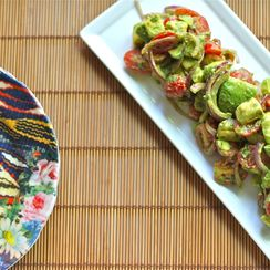 Deconstructed Guacamoloe Salad with Cumin-Lime Vinaigrette