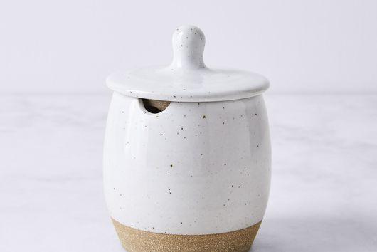 Handmade Stoneware Sugar Pot