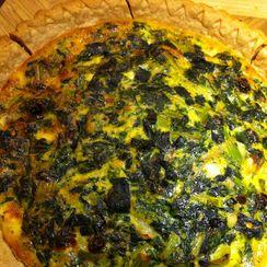 Savory-Sweet Kale Quiche
