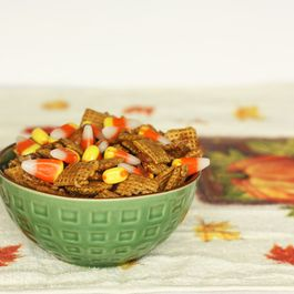 Candy Corn Chex Mix