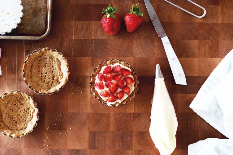 Strawberry Tart w/ Black Pepper and Mascarpone