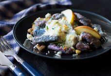 Purple Potato Gnocchi with Gorgonzola Cream Sauce