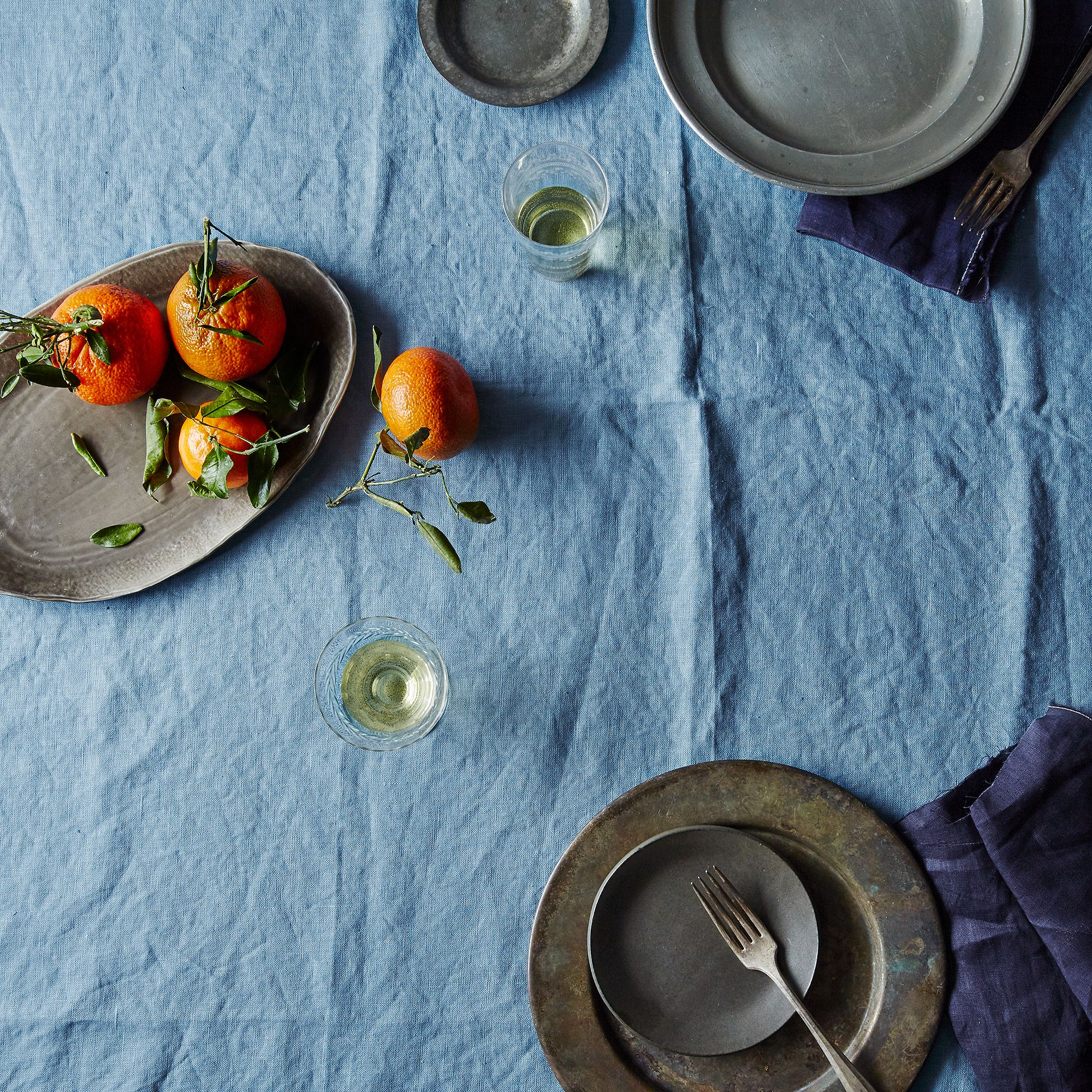 Kitchen table cloth images table decoration ideas watchthetrailerfo blue linen tablecloth on food52 watchthetrailerfo workwithnaturefo