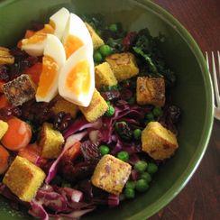 Curried Chickpea Tofu Salad