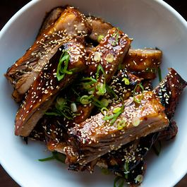 Chinese style honey hoisin sticky ribs by Ed j