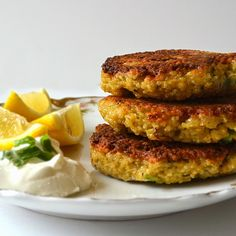 Lemon Scallion Couscous Cakes