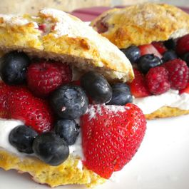 Berry Scone Shortcakes