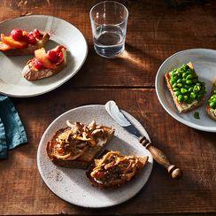 Peach and Raspberry Toast