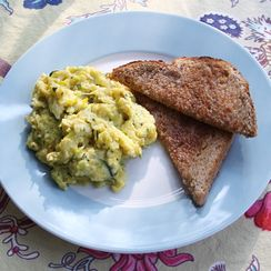 Summer Squash Scrambled Eggs