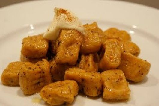 Sweet Potato Gnocchi with Cinnamon Brown Butter & Whipped Mascarpone