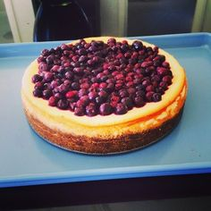 Mascarpone + Blueberry Cheesecake with Salted Ginger + Hazelnut Base (GF)