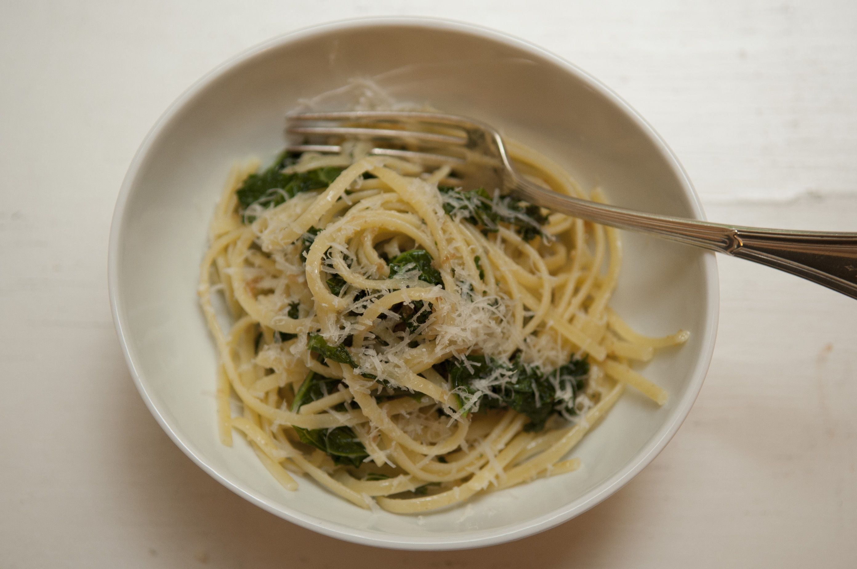 Linguine with Breadcrumbs and Kale from Food52