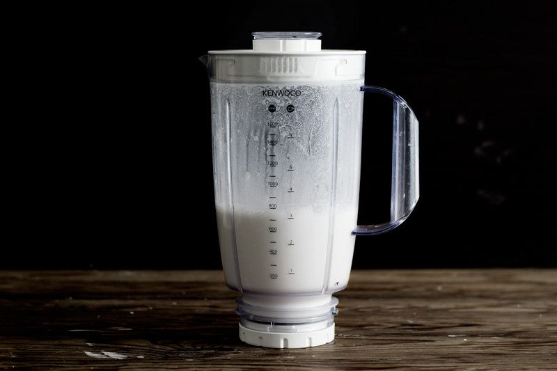 Rice Flour in a Blender