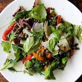marinated pepper salad with... by Joyce Hackwell