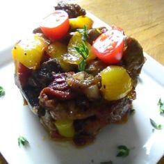 SUGAR - FREE One Pot Pork Crimini Lemon Stew