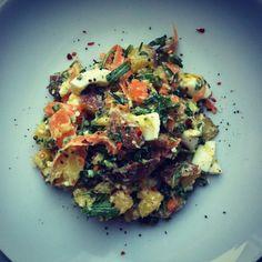 Spring Potato and Scallion Salad, mayonnaise-free