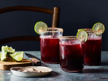 Warm Up with a Bright, Floral Margarita This Winter