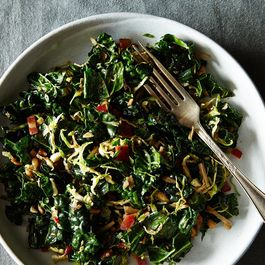 Kale and Brussels Sprout Salad with Honey Balsamic Dressing
