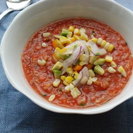 Gazpacho with Peaches and Jalapen?o