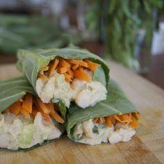 Collard Green Wrap with White Bean Salad