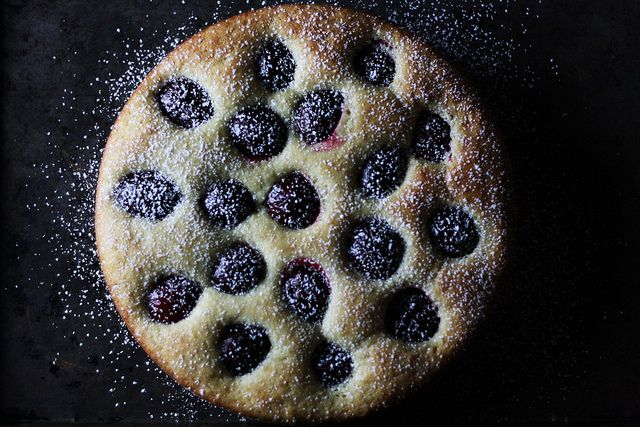 Olive Oil Ricotta Cake with Plums from Food52