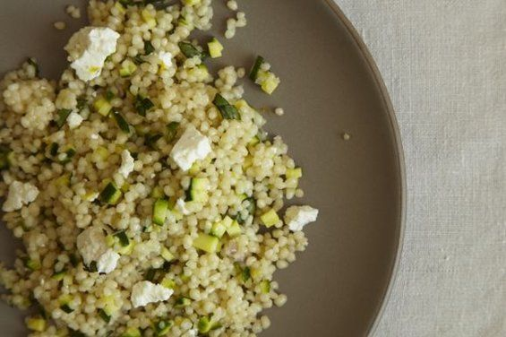 Couscous Salad with Zucchini Lemon and Ricotta Salata