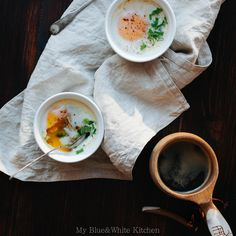 Baked Eggs with Spinach & Sun-Dried Tomatoes