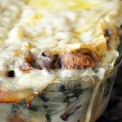 Rosemary-Roasted Fall Veggies, Gruyere and Sage Béchamel Lasagna