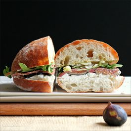 Fennel, Fig and Salami Sandwich with Goat Cheese