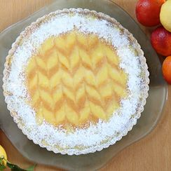 Ginger Lemon & Bourbon Blood Orange Tart with Cardamom Almond Crust