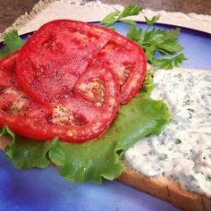 Tomato Sandwich with Zesty Herb Mayo