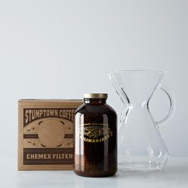 Kenya Process Limited Edition Gift Set with Glass Handled Chemex Brewer with 100 Chemex Filters