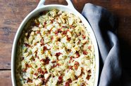 "Cheesy Potato and Bacon ""Brown Betty"""