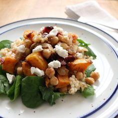Butternut Squash, Cranberry & Chickpea Couscous Salad