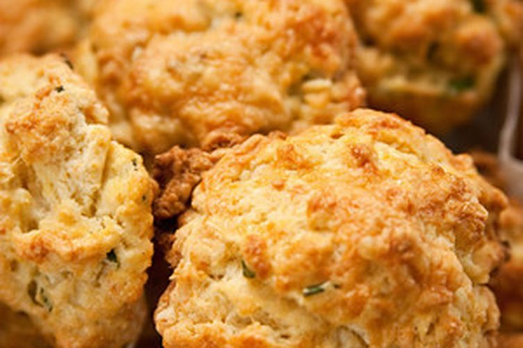 Ham, Cheddar, and Chive Scones