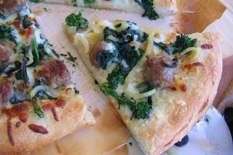 Broccoli Rabe and Fennel Sausage Pizza