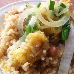 Moro de Coco y Gandules (Rice with Coconut Pigeon Peas)