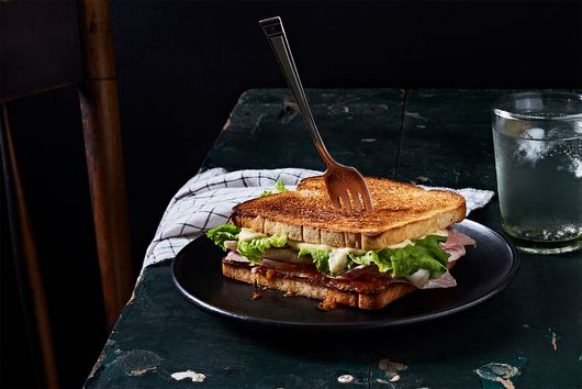 "El Eme's Mythical ""Triángulo"" Sandwich With Secret Sauce"