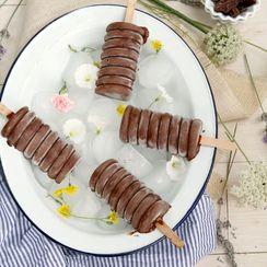 4 Ingredient Vegan Chocolate Fudgesicles