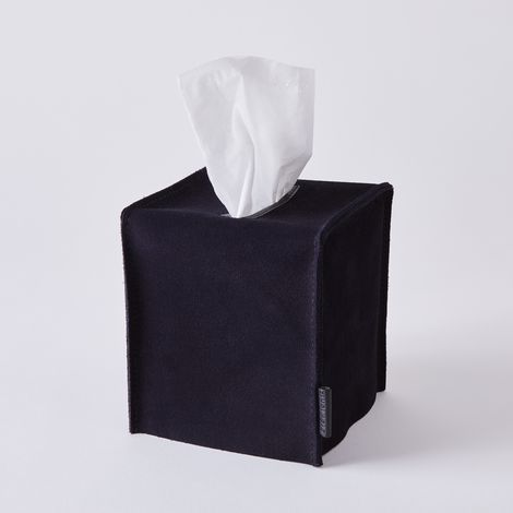 Suede Tissue Box Cover