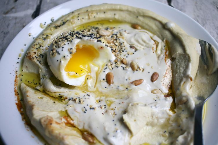 Hummus & Tahina with Soft Boiled Egg & Everything Bagel Spice