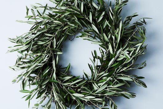 Dried Wild Olive Wreath