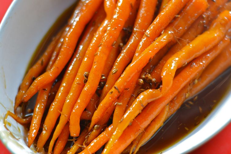 Buttery Maple and Cumin Carrots